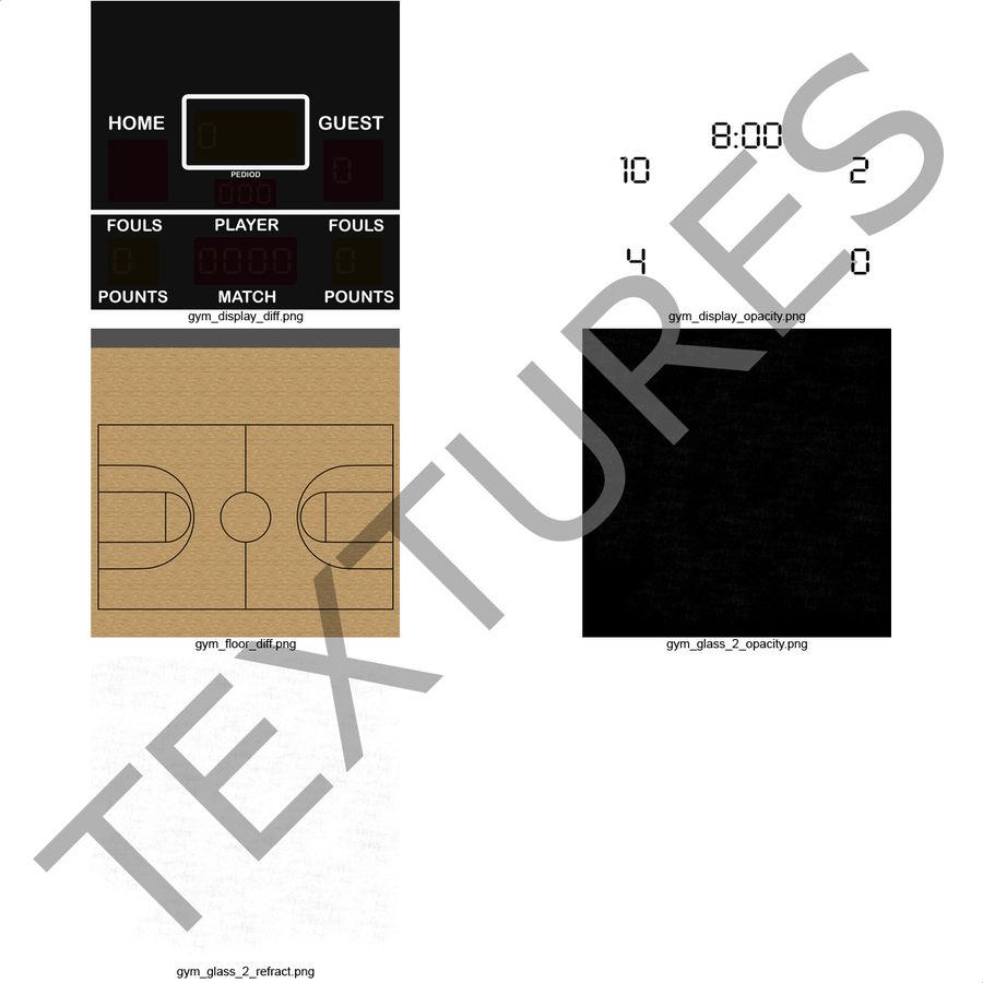 Academia de basquete royalty-free 3d model - Preview no. 32