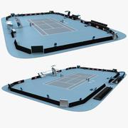 Open Tennis Arena 3d model