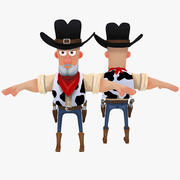 Cartoon Cowboy 3d model