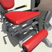 Расширение ноги спортзала 3d model