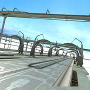 Carretera de ciencia ficción Space Road modelo 3d