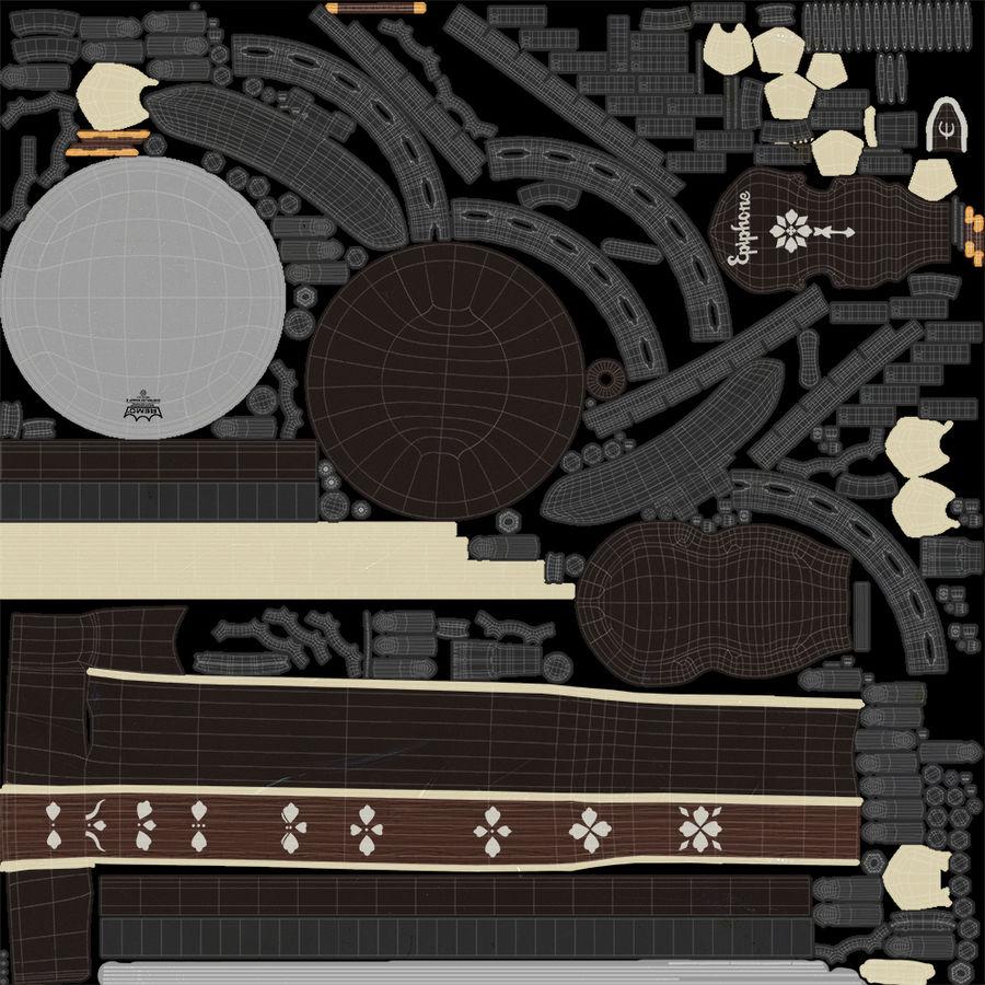 Banjo epiphone royalty-free 3d model - Preview no. 17