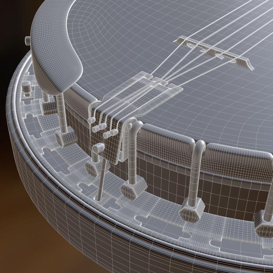 Banjo epiphone royalty-free 3d model - Preview no. 14