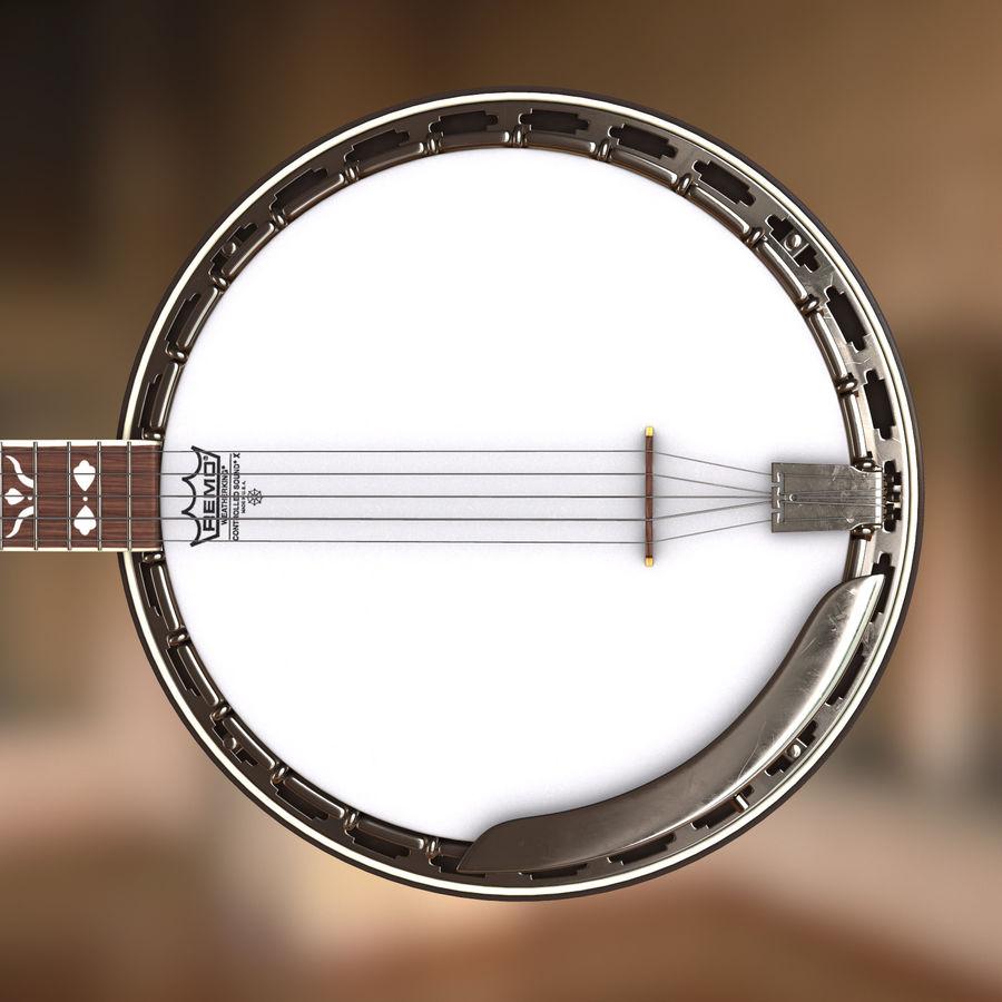 Banjo epiphone royalty-free 3d model - Preview no. 5
