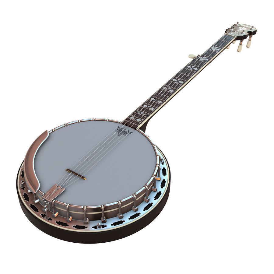 Banjo epiphone royalty-free 3d model - Preview no. 1
