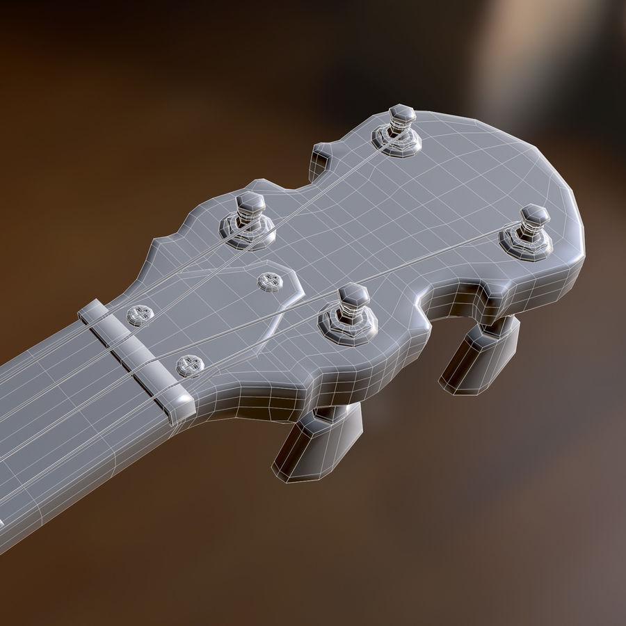 Banjo epiphone royalty-free 3d model - Preview no. 9