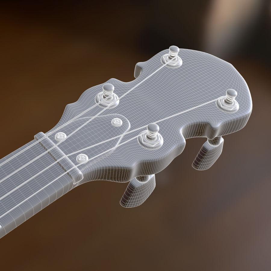 Banjo epiphone royalty-free 3d model - Preview no. 10