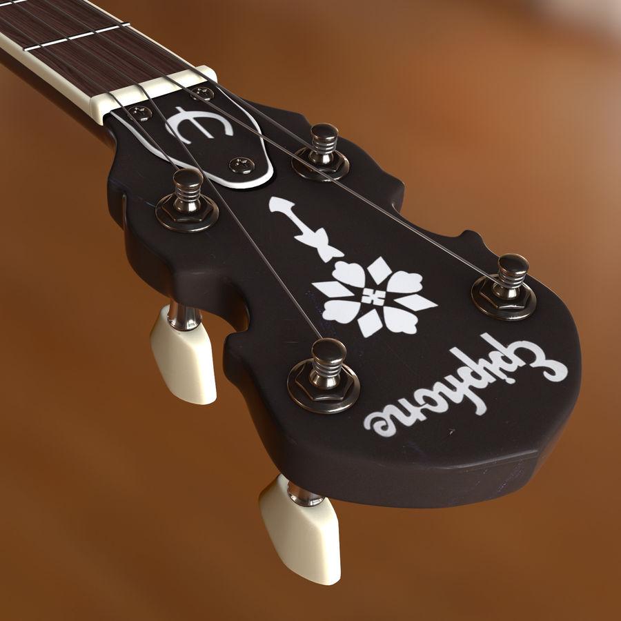 Banjo epiphone royalty-free 3d model - Preview no. 7