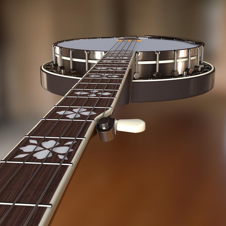 Banjo epiphone royalty-free 3d model - Preview no. 6