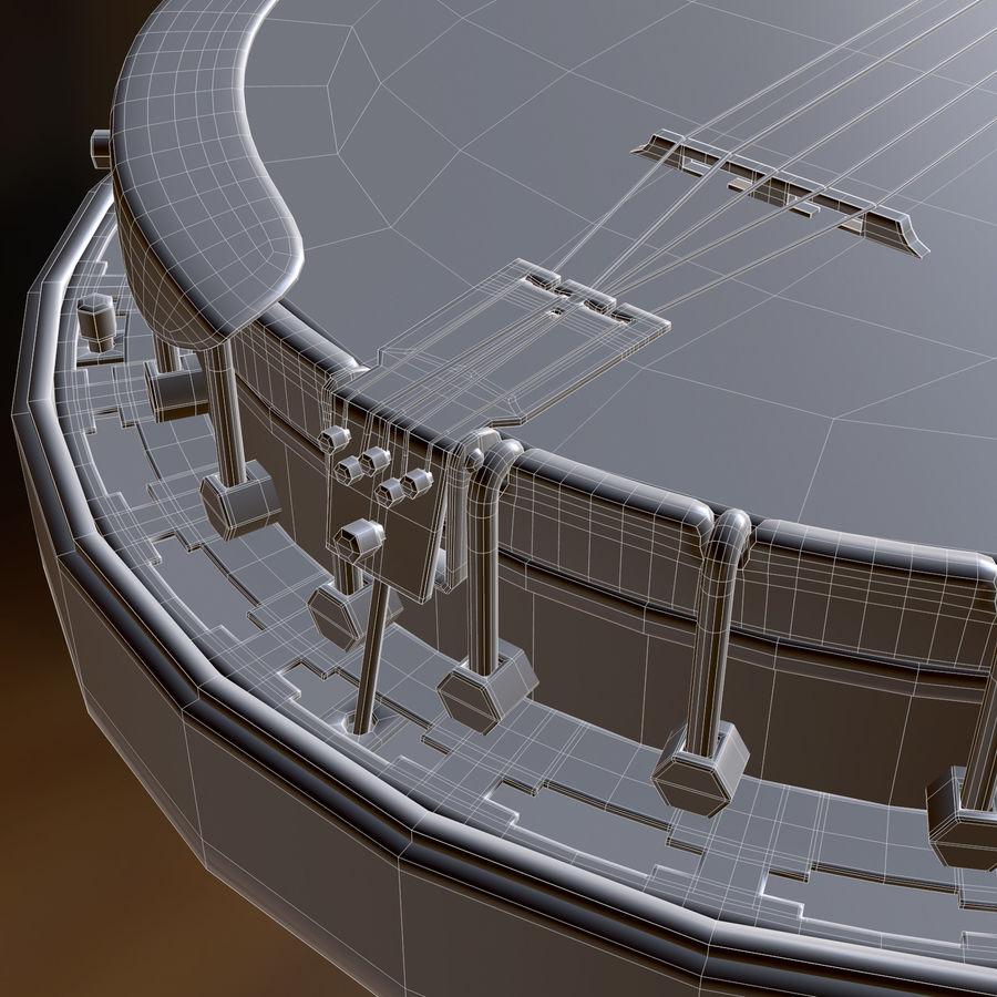 Banjo epiphone royalty-free 3d model - Preview no. 13