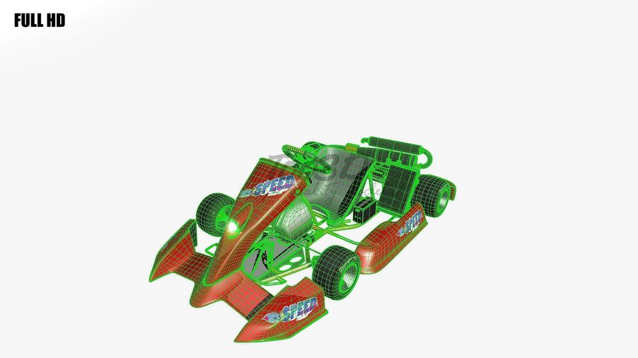 kart royalty-free 3d model - Preview no. 17