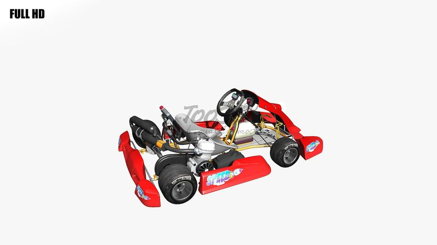 kart royalty-free 3d model - Preview no. 20