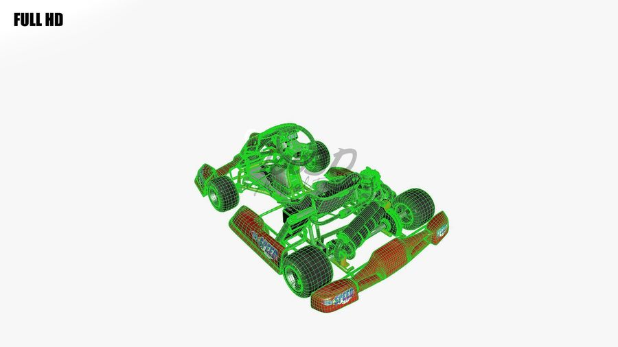 kart royalty-free 3d model - Preview no. 15