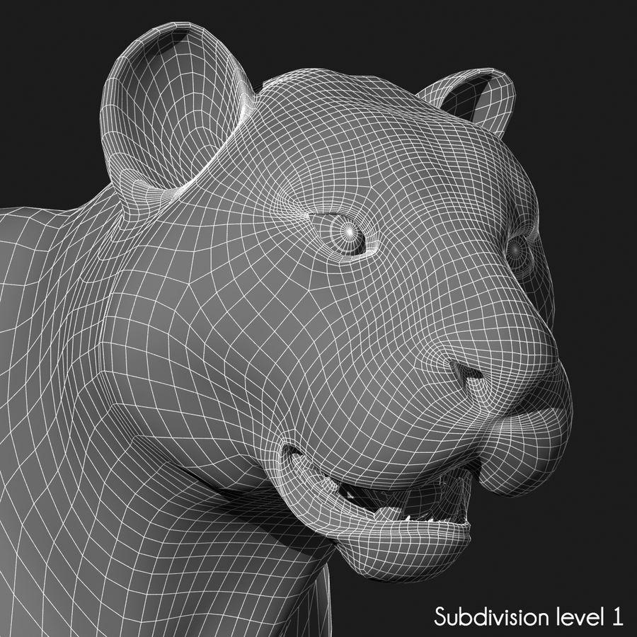 Tigre (pele) royalty-free 3d model - Preview no. 14