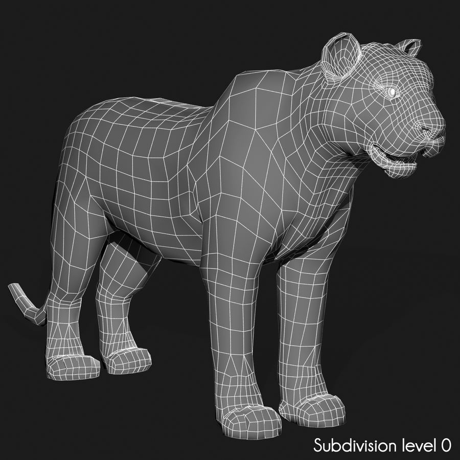 Tigre (pele) royalty-free 3d model - Preview no. 16
