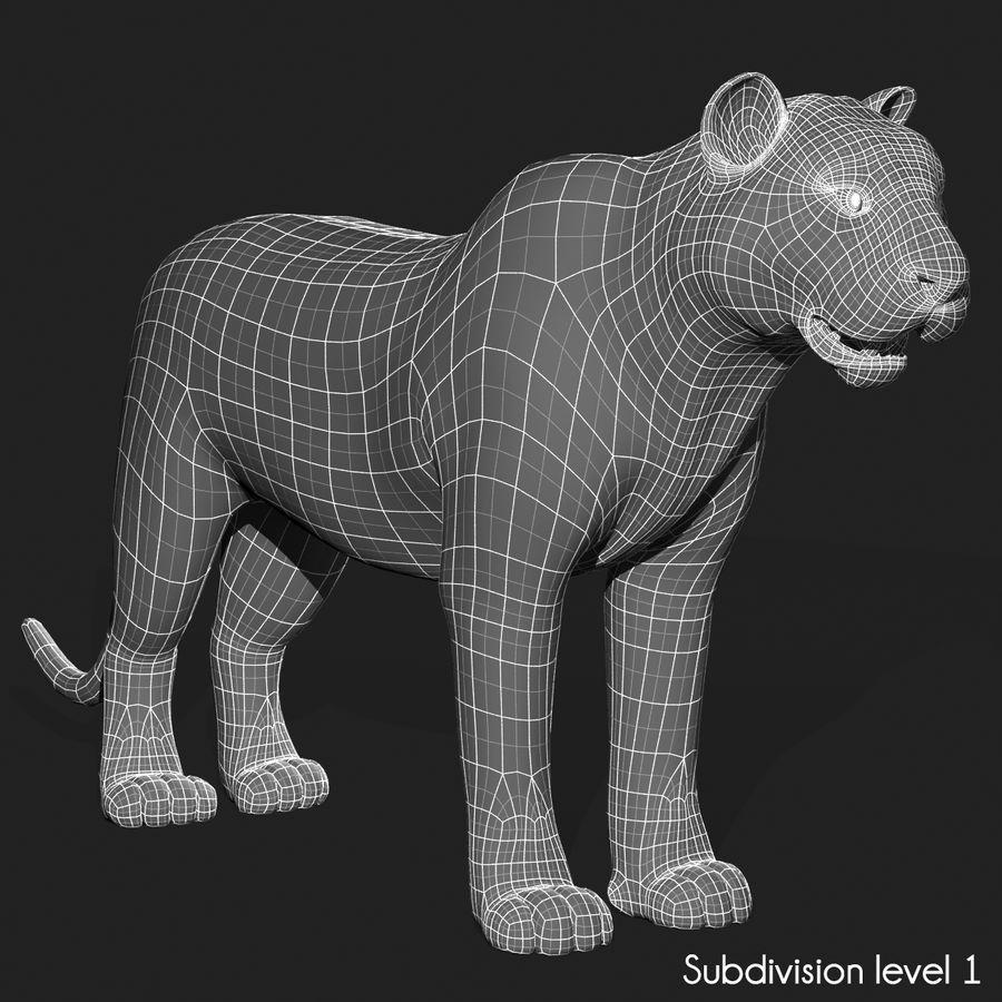 Tigre (pele) royalty-free 3d model - Preview no. 18