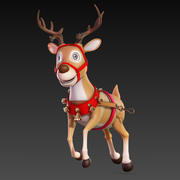Cartoon_Deer_Rigged 3d model