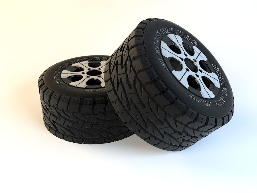 Wheels royalty-free 3d model - Preview no. 3