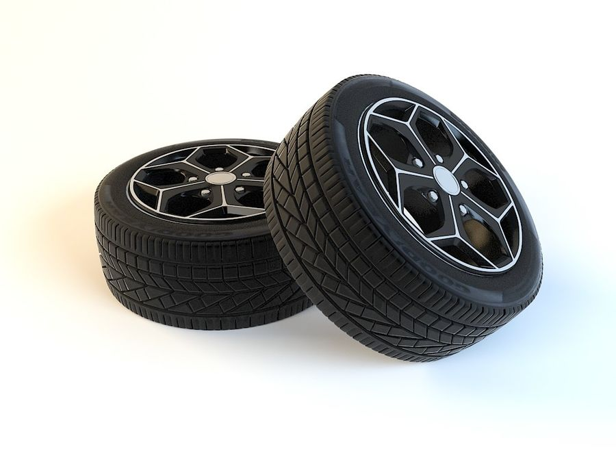 Wheels royalty-free 3d model - Preview no. 2