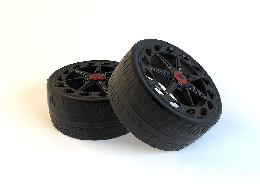 Wheels royalty-free 3d model - Preview no. 4