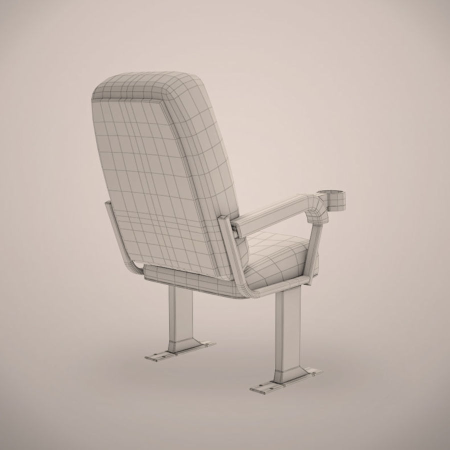Cinema Chair royalty-free 3d model - Preview no. 5