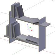 Bookshelf Low Poly 3d model