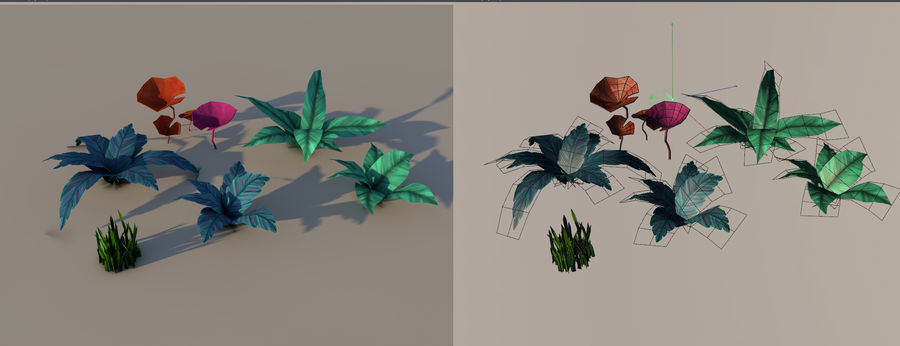 Plant pack (low poly) royalty-free 3d model - Preview no. 2