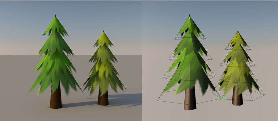 Plant pack (low poly) royalty-free 3d model - Preview no. 4