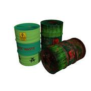 Barili di rifiuti tossici tipo 6 3d model