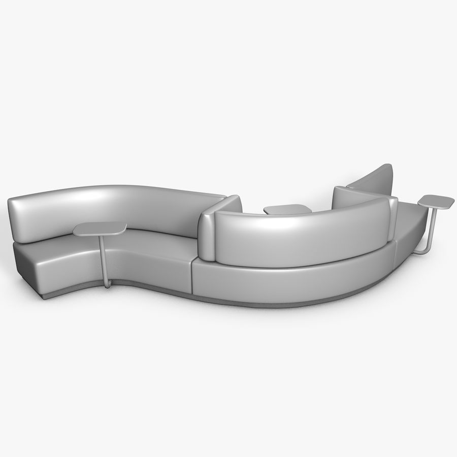 Banco del sofá royalty-free modelo 3d - Preview no. 2