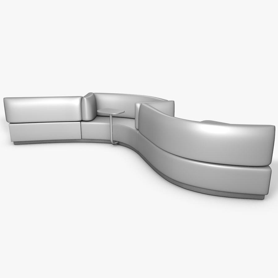 Banco del sofá royalty-free modelo 3d - Preview no. 5