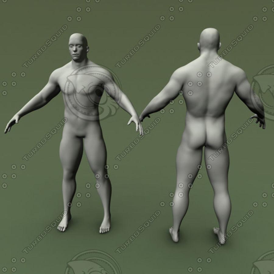 Męskiej anatomii człowieka High Poly royalty-free 3d model - Preview no. 1