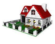 LEGO hus 3d model