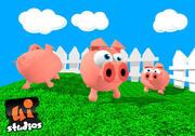 Toon Pig 3d model