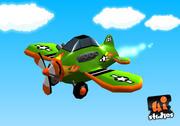 Toon Race Plane 3d model
