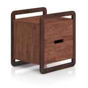 Mesita de noche moderna de madera modelo 3d