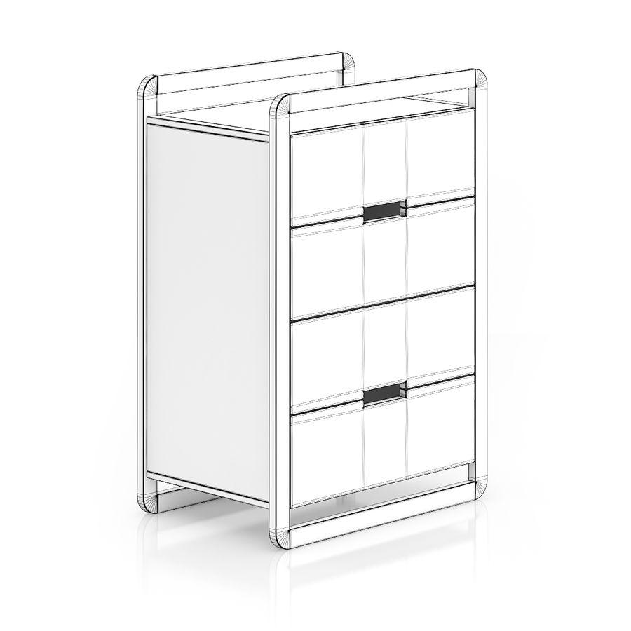 Gabinete de madera moderno royalty-free modelo 3d - Preview no. 2