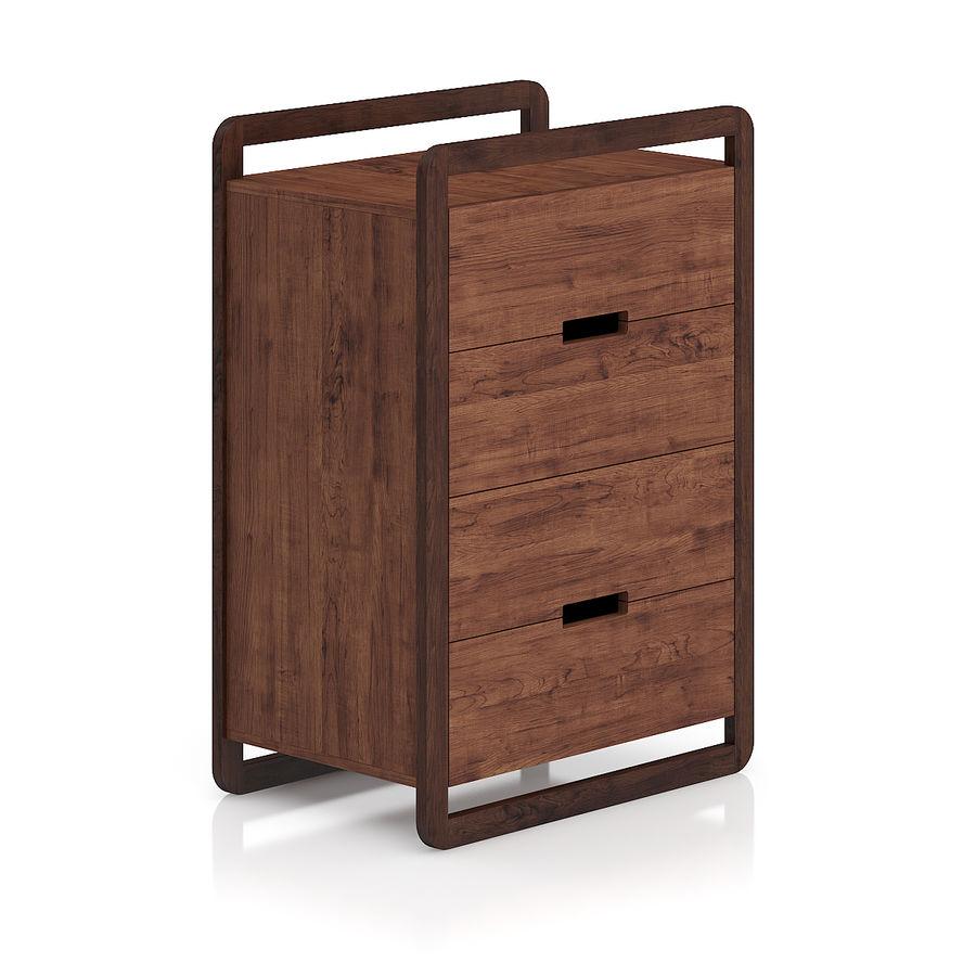 Gabinete de madera moderno royalty-free modelo 3d - Preview no. 1