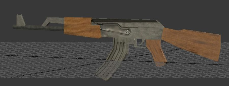 AK-47 royalty-free modelo 3d - Preview no. 5