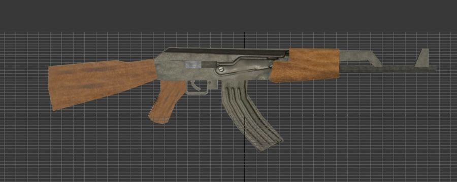 AK-47 royalty-free 3d model - Preview no. 1