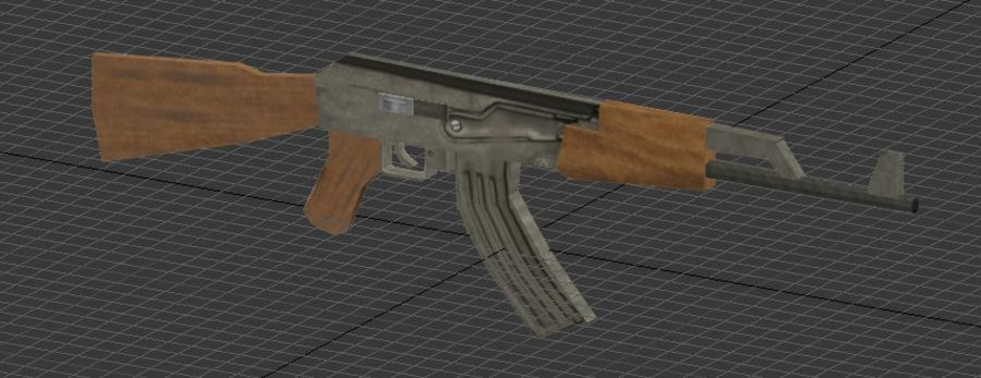 AK-47 royalty-free modelo 3d - Preview no. 2