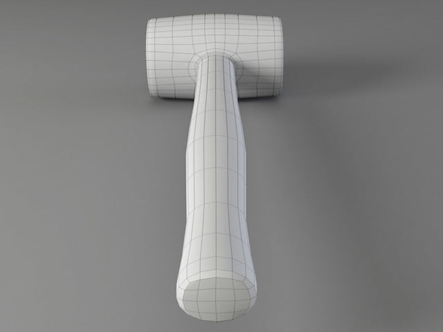 Rubber Mallet royalty-free 3d model - Preview no. 7