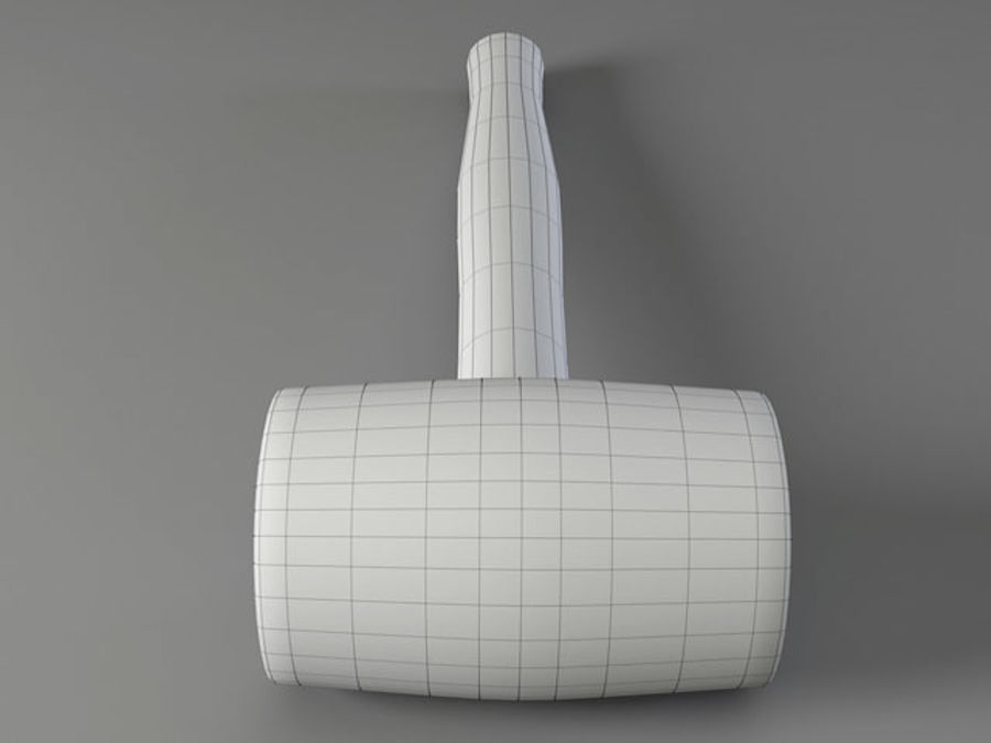Rubber Mallet royalty-free 3d model - Preview no. 8
