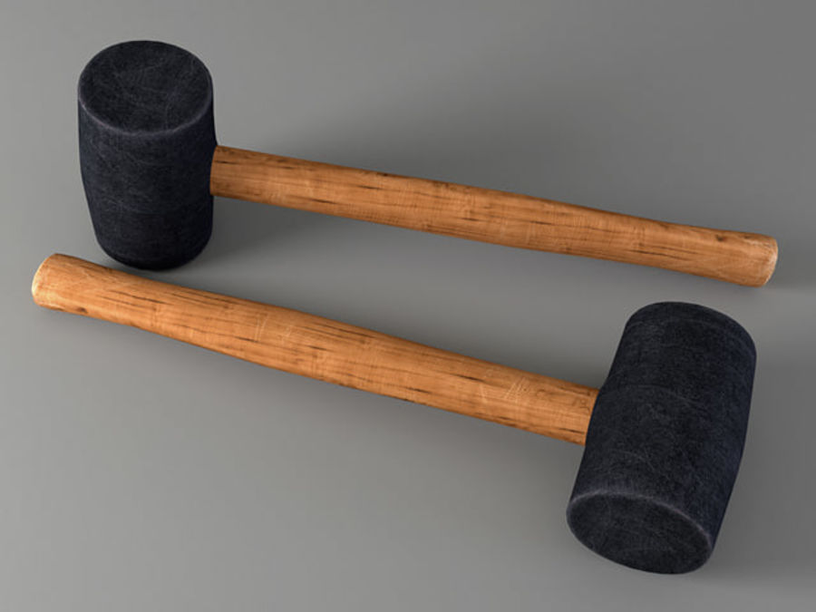 Rubber Mallet royalty-free 3d model - Preview no. 2