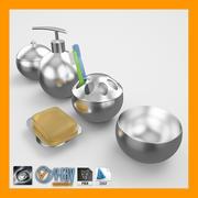 Zestaw akcesoriów łazienkowych 1 3d model