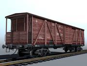 4-Achs-Güterwagen 3d model