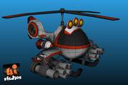 Combat Chopper 3d model