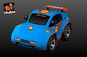 Гоночная машина Toon 3d model