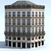 Immeuble + ombres cuites 3d model