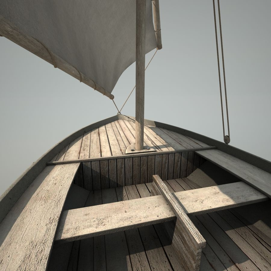 Felucca Segelboot royalty-free 3d model - Preview no. 10